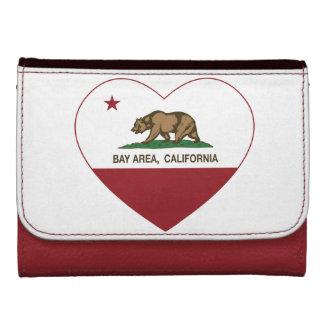 california flag bay area heart wallet for women