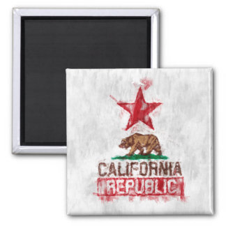 California Flag Bear in Painterly Style Magnet