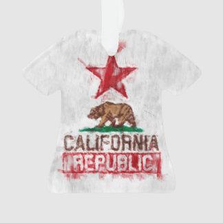 California Flag Bear in Painterly Style Ornament