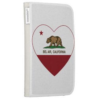 california flag bel air heart kindle 3 covers
