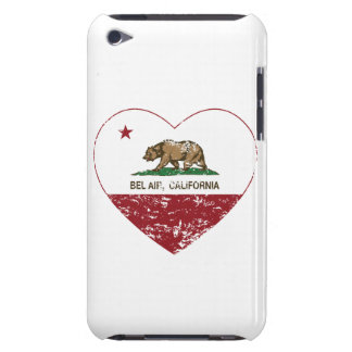 california flag bel air heart distressed iPod touch case