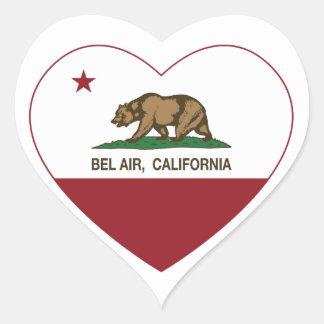 california flag bel air heart heart sticker