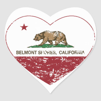 california flag belmont shores heart distressed heart sticker
