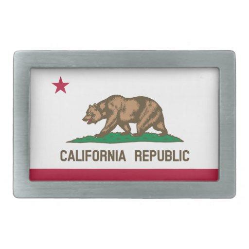 California Flag Belt Buckle