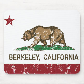 california flag berkeley distressed mouse pad