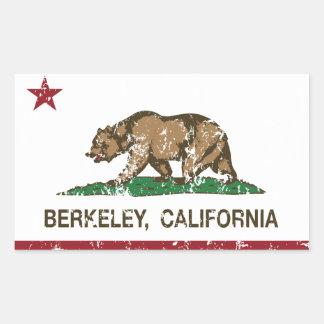california flag berkeley distressed rectangular sticker