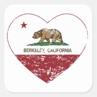 california flag berkeley heart distressed stickers