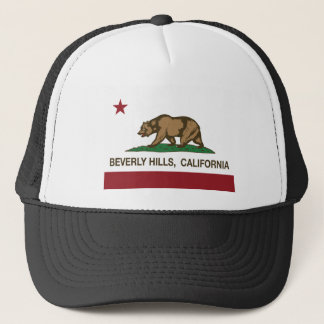 california flag beverly hills trucker hat