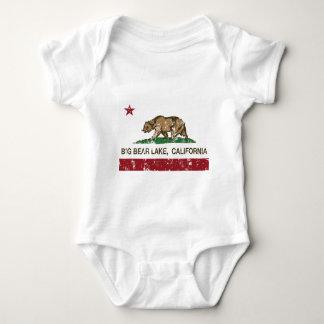 california flag big bear lake distressed baby bodysuit