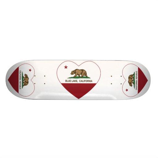 california flag blue lake heart custom skateboard