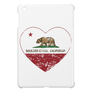 california flag boulder creek heart distressed cover for the iPad mini