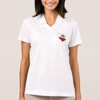 california flag brea heart polo shirt