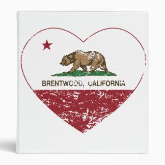 california flag brentwood heart distressed binders