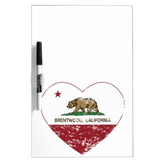 california flag brentwood heart distressed Dry-Erase boards