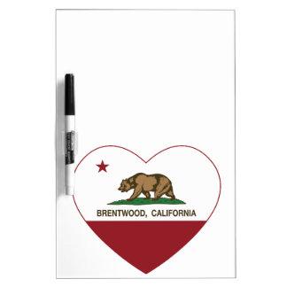 california flag brentwood heart dry erase whiteboard