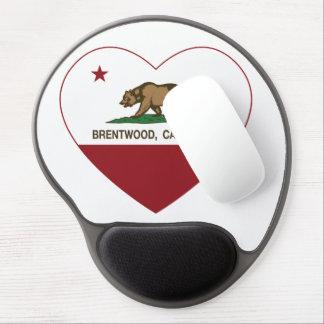 california flag brentwood heart gel mousepad
