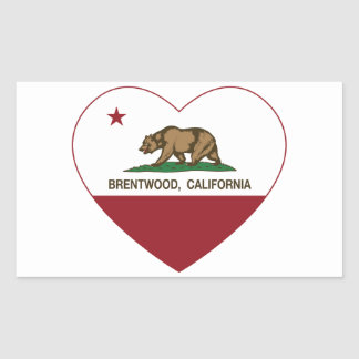 california flag brentwood heart rectangular sticker