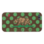 California Flag Brown and Green Polka Dots Covers For iPhone 5