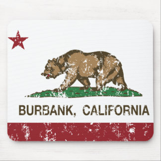 california flag burbank distressed mouse pad