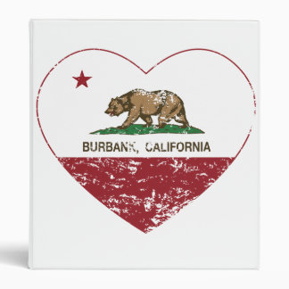 california flag burbank heart distressed binder
