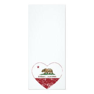 california flag burbank heart distressed card