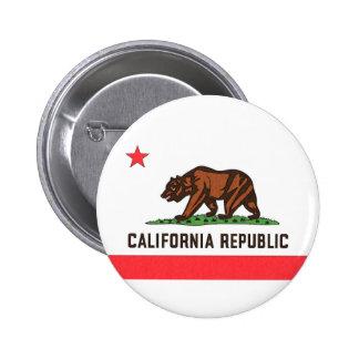CALIFORNIA FLAG PINBACK BUTTONS