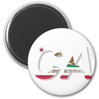 California Flag CA Design 2 Inch Round Magnet