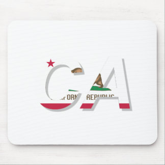 California Flag CA Design Mouse Pad