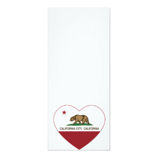 california flag california city heart card