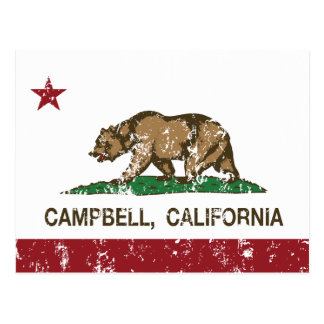 california flag campbell distressed post cards