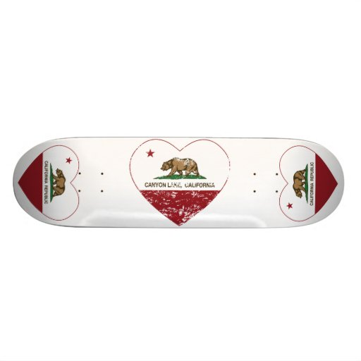 california flag canyon lake heart distressed skate deck