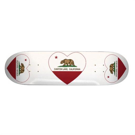 california flag canyon lake heart custom skateboard