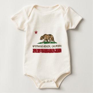 california flag capistrano beach distressed baby bodysuit
