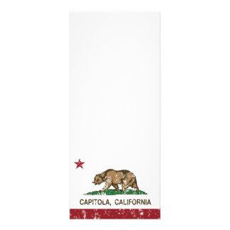 california flag capitola distressed custom invite