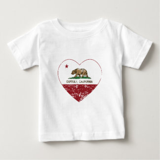 california flag capitola heart distressed baby T-Shirt
