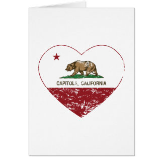 california flag capitola heart distressed greeting cards
