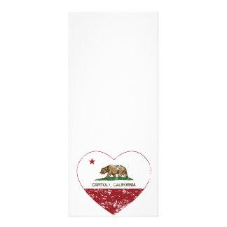 california flag capitola heart distressed personalized invite