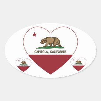california flag capitola heart oval stickers