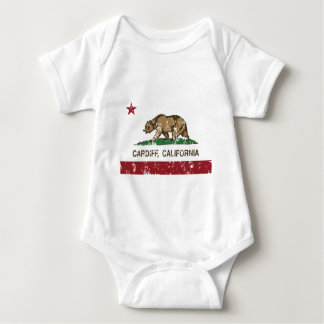 california flag cardiff distressed baby bodysuit