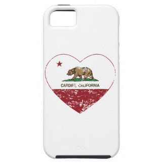 california flag cardiff heart distressed cover for iPhone 5/5S