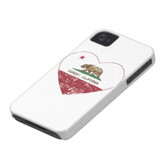california flag cardiff heart distressed iPhone 4 cover