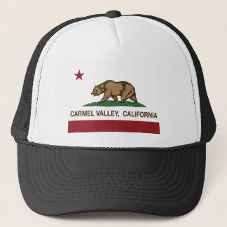 california flag carmel valley trucker hat