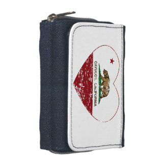 california flag cayucos heart distressed wallets