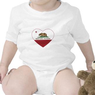 california flag cedar glen heart t-shirt