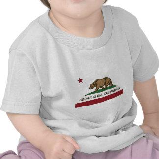 california flag cedar glen tshirts
