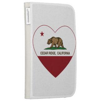 california flag cedar ridge heart kindle 3G covers