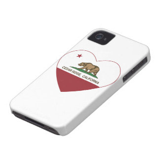 california flag cedar ridge heart iPhone 4 cases