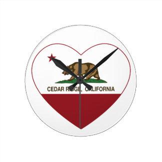 california flag cedar ridge heart clock