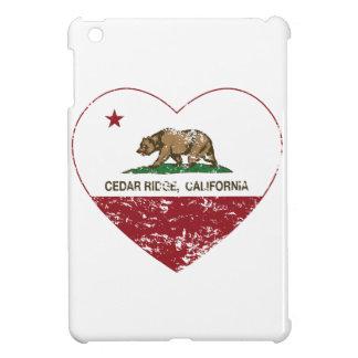 california flag cedar ridge heart distressed case for the iPad mini
