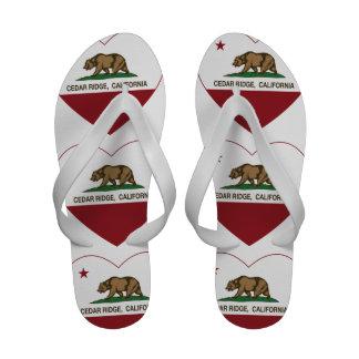 california flag cedar ridge heart sandals